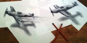 Dibujos 3D con un lápiz y papel