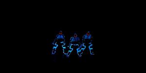 Baile dubstep con luces neón (Videos)