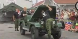 4 minutos bastan para desarmar y rearmar un Jeep de 1944