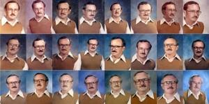 Dale Irby pasó 40 años fotografiándose con la misma ropa