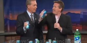 ¿Cómo abrir una lata de soda agitada?