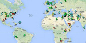 Mapa interactivo con las protestas de todo el mundo desde 1979