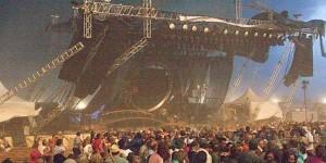 5 muertos tras caerse escenario en Indiana State Fair