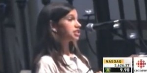 Con 14 años esta niña refuta a la empresa de químicos Monsanto