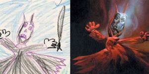 Así se verían los dibujos de los niños si fueran pasados a la realidad