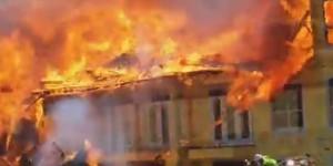 Realmente el rescate más increíble de un hombre en un edificio en llamas (O_O)
