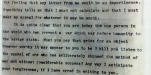 La carta de Mahatma Gandhi a Adolf Hitler