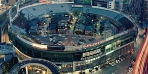 Una ciudad construida en un estadio de béisbol en Osaka