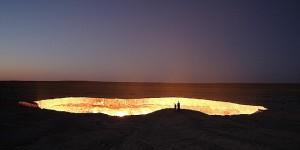 """Conoce la """"Puerta del Infierno"""" en el desierto de Turkmenistán"""