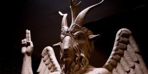 Escultura del diablo en Detroit, Estados Unidos